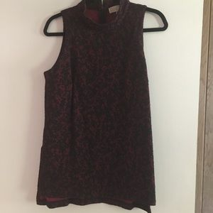 Michael Kors Red Paisley Tunic Top Size Large